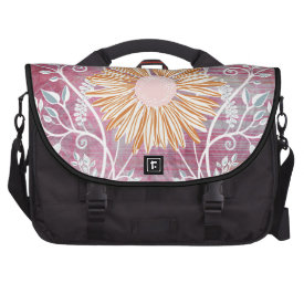 Beautiful Daisy Flower Distressed Floral Chic Bags For Laptop