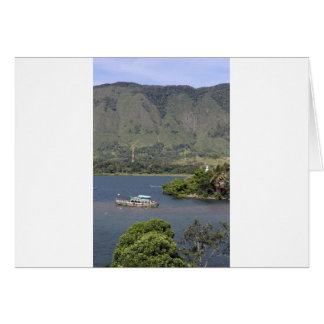Beautiful Danau Toba volcanic lake Card