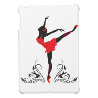 Beautiful dancing woman silhouette floral ornament case for the iPad mini