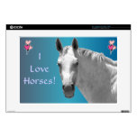 "Beautiful Dapple Grey Horse 15"" Laptop Decal"