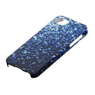Beautiful Dark Blue glitter sparkles iPhone SE/5/5s Case
