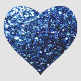 Beautiful Dark Blue sparkles Heart Sticker
