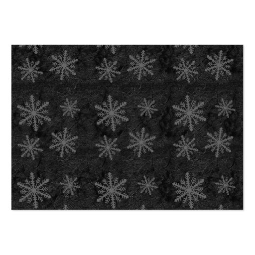 Beautiful Dark Gray Snowflake Holiday Pattern - Large Business Cards (Pack Of 100)