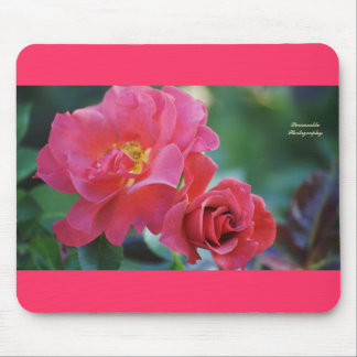 Beautiful dark pink rosee mousepad