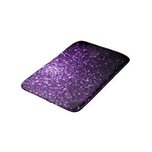 Bath Mat Set Black Sparkle With Plus Together Glitter