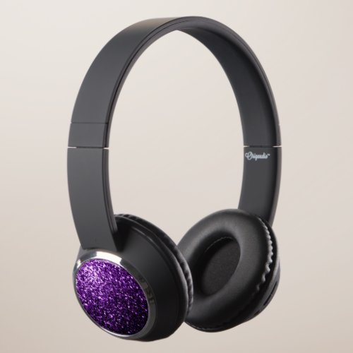 Beautiful Dark Purple glitter sparkles Headphones