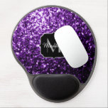 "Beautiful Dark Purple glitter sparkles Monogram Gel Mouse Pad<br><div class=""desc"">Personalize sparkly gel mouse pad with your initial and name. Beautiful girly glamorous purple shiny glitters sparkles. Photo of purple sparkles not actual glitter!</div>"