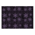 Beautiful Dark Purple Snowflake Holiday Pattern - Large Business Cards (Pack Of 100)
