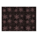 Beautiful Dark Red Snowflake Holiday Pattern - Large Business Cards (Pack Of 100)