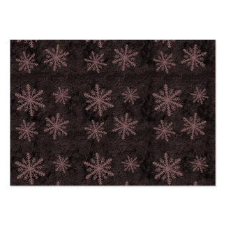Beautiful Dark Red Snowflake Holiday Pattern - Large Business Card