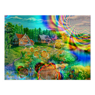 Beautiful Day at Home in Paradise - Poster