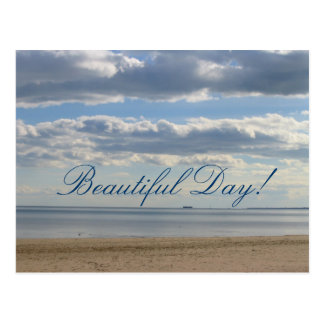 Beautiful Day! at the beach postcard