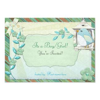 Beautiful Day Bird House BABY SHOWER BIRTHDAY Card