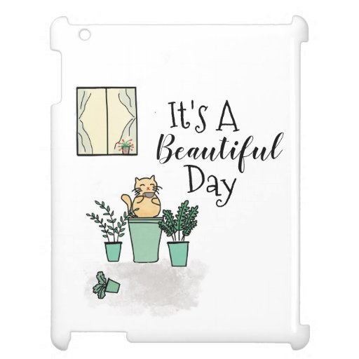 Beautiful Day Cute Cat Case for the iPad