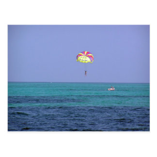 Beautiful day for para-sailing postcard