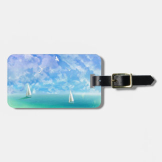 Beautiful Day For Sailing Bag Tag