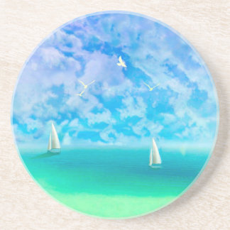 Beautiful Day For Sailing Sandstone Coaster