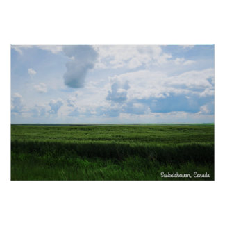 Beautiful Day in The Prairies Poster