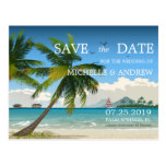 Beautiful Day/Tropical Island Beach Save The Date Postcards