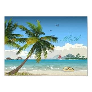 Beautiful Day/Tropical Island Beach Wedding Invite