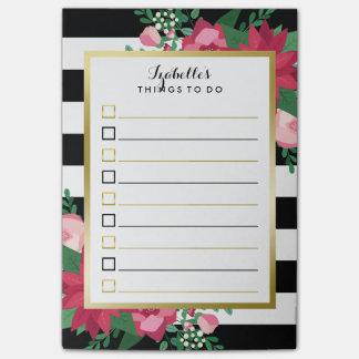 Beautiful December Bouquet Custom Name To Do List Post-it® Notes
