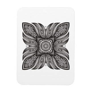 Beautiful Decor Square Doodle Magnet