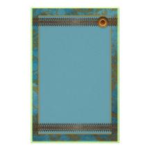 Beautiful Decorative Blue Lace Design Personalized Stationery