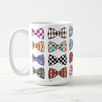 Beautiful Decorative Bow Tie Patterns Mug