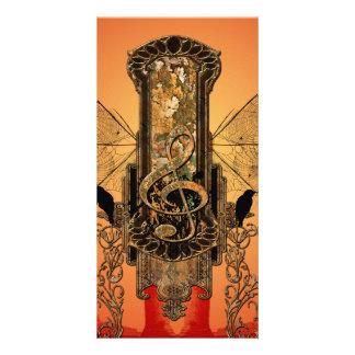 Beautiful decorative clef card