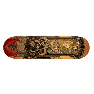 Beautiful decorative clef skateboard