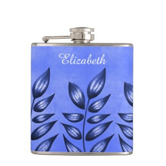 Beautiful Decorative Plant With Pointy Leaves Blue Hip Flask