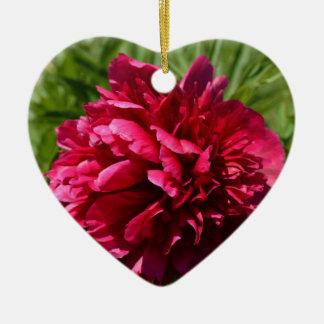 Beautiful Deep Pink Peony Flower - Floral Garden Christmas Tree Ornaments