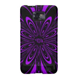 Beautiful Deep Purple Floral Design Samsung Galaxy SII Cases