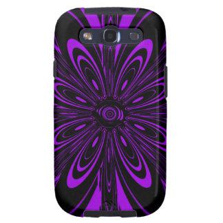 Beautiful Deep Purple Floral Design Samsung Galaxy S3 Cases