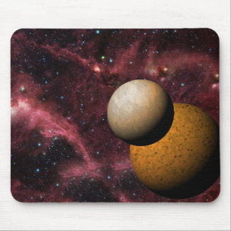 Beautiful Deep Space Planets Mouse Pad