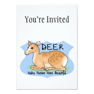 Beautiful Deer 5x7 Paper Invitation Card