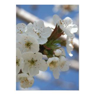 "Beautiful Delicate Cherry Blossom Flowers 5.5"" X 7.5"" Invitation Card"