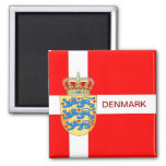 Beautiful Denmark Magnet! 2 Inch Square Magnet