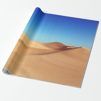 beautiful desert wrapping paper