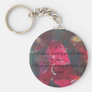 Beautiful design inspirational quote keychain