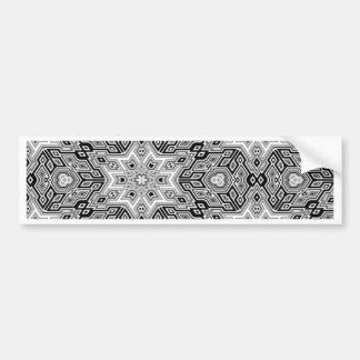 Beautiful Design Style Fashion Fame Floral Flowers Bumper Sticker
