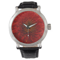 Beautiful  dhalia personalized design watch