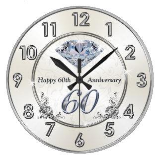 Beautiful Diamond 60th Wedding Anniversary Clocks