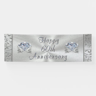 Beautiful Diamond Happy 60th Anniversary Banner