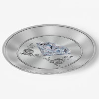 Beautiful Diamond Paper Plates Diamond Party Theme