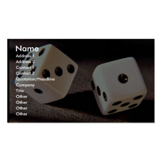 Beautiful Dice on a roll Business Cards