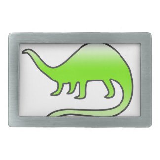 beautiful dinosaur rectangular belt buckle