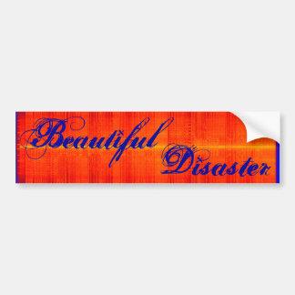 Beautiful Disaster Bumper Sticker Car Bumper Sticker