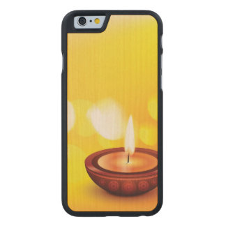 Beautiful diwali diya illustration carved® maple iPhone 6 case