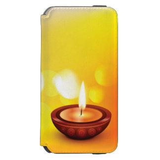 Beautiful diwali diya illustration iPhone 6/6s wallet case